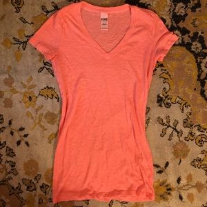 VS Pink long salmon T-shirt